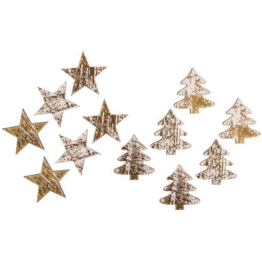 Weihnachtliche Holzdeko zum Streuen