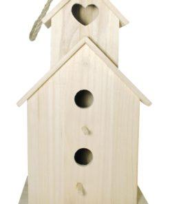 Vogelhaus aus Holz, zum Gestalten