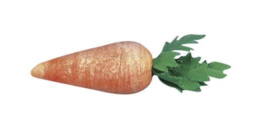 Karotte aus Watte, bemalt