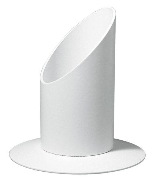 Kerzenhalter 30mmØ in weiß, zur Deko