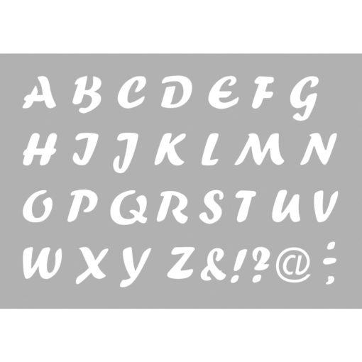 Rayher Klebeschablone Alphabet, zum Schablonieren