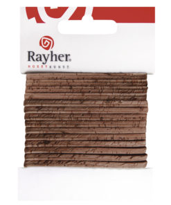 Rayher flaches Kork-Band, 150cm, in haselnuss