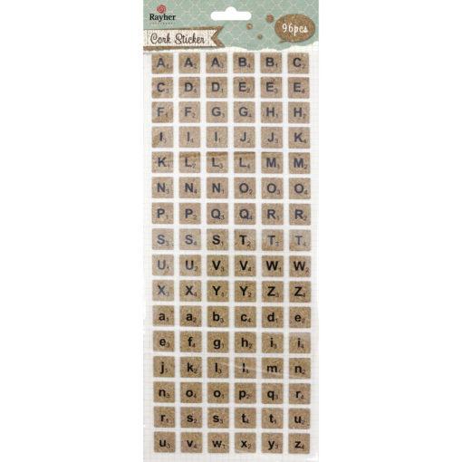 Rayher quadratische Korksticker Alphabet
