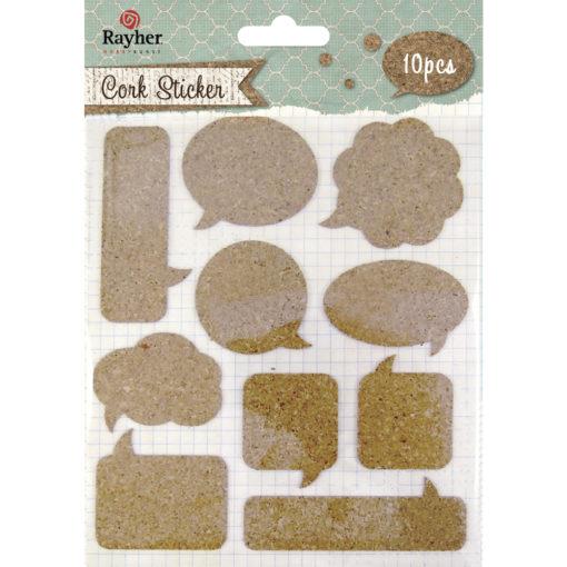 Rayher Kork-Sticker Sprechblasen, zum Basteln
