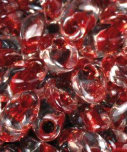 Magatama Perlen, gelüstert Rainbow, zur Schmuckherstellung