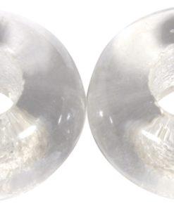 Glas Großloch Perle in bergkristall
