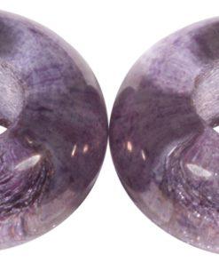 Glas Großloch Perle in flieder