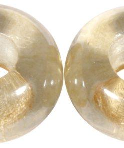 Glas Großloch Perle in helltopaz