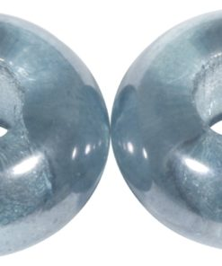 Glas Großloch Perle in jeansblau