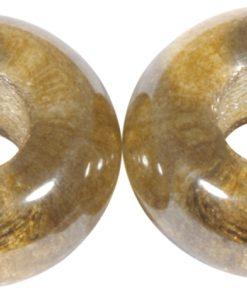 Glas Großloch Perle in karamell