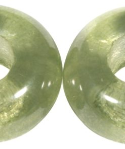 Glas Großloch Perle in mintgrün
