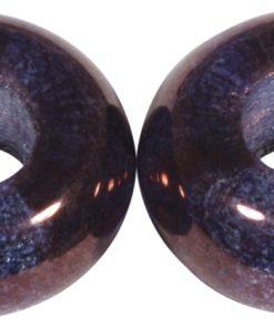 Glas Großloch Perle in pflaume