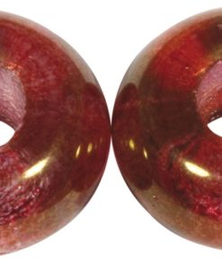 Glas Großloch Perle in helltopazklassikrot
