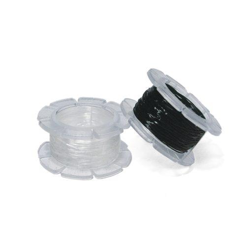 Rayher Magic Stretch Gummifaden 0,5 mm Ø, schwarz oder weiß
