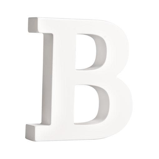 Rayher Pappmaché-Buchstabe B in weiß