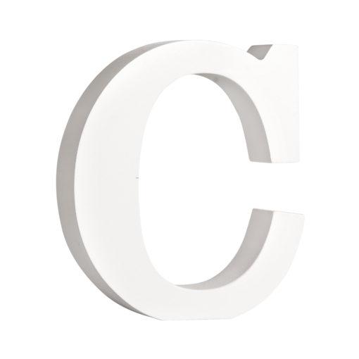 Rayher Pappmaché-Buchstabe C in weiß