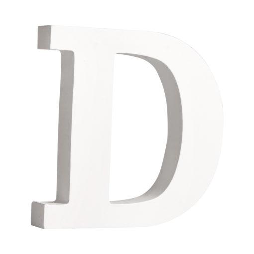 Rayher Pappmaché-Buchstabe D in weiß