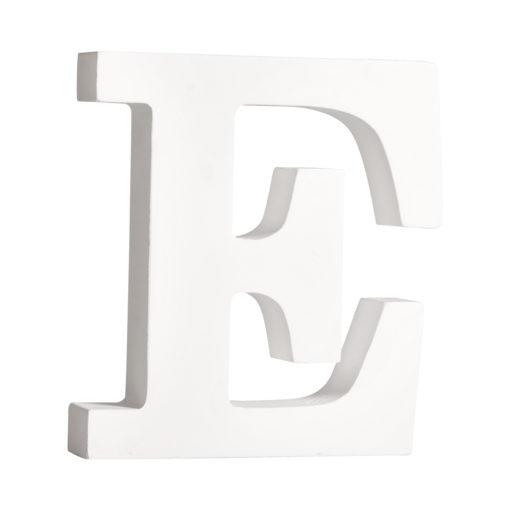 Rayher Pappmaché-Buchstabe E in weiß