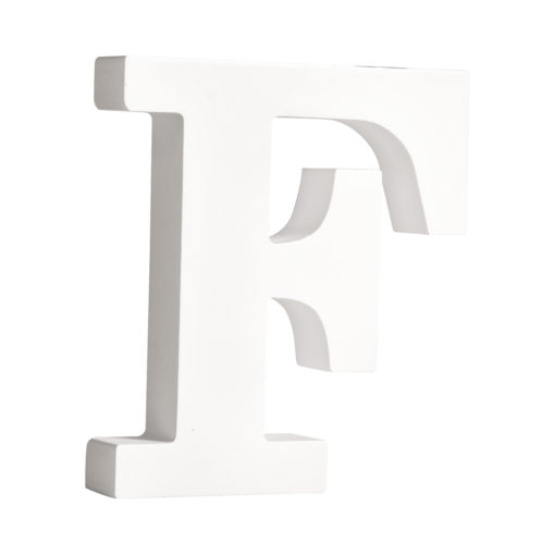 Rayher Pappmaché-Buchstabe F in weiß