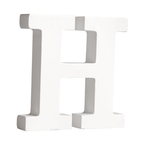 Rayher Pappmaché-Buchstabe H in weiß