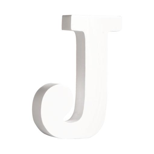 Rayher Pappmaché-Buchstabe J in weiß