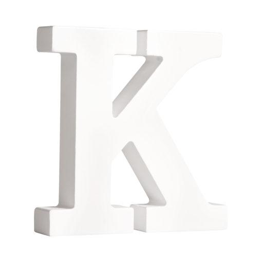 Rayher Pappmaché-Buchstabe K in weiß