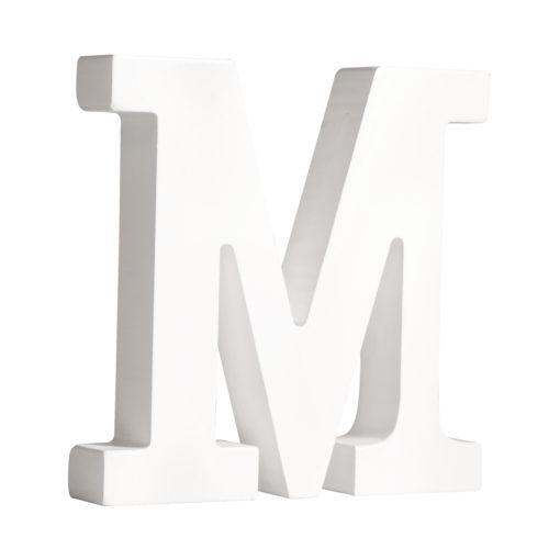 Rayher Pappmaché-Buchstabe M in weiß