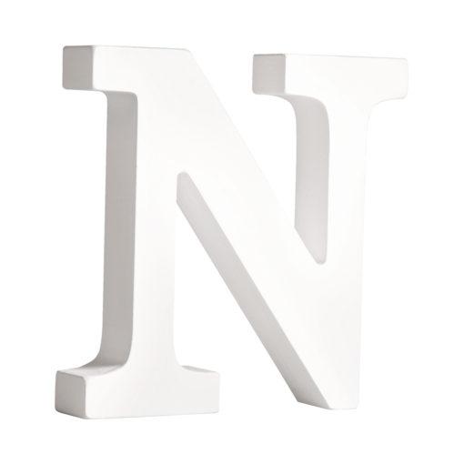 Rayher Pappmaché-Buchstabe N in weiß