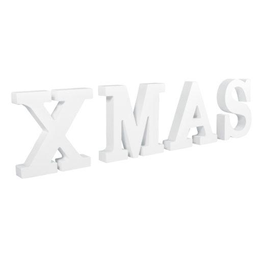 Rayher Pappmaché-Buchstaben XMAS in weiß