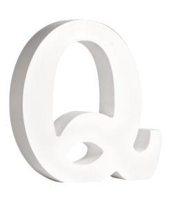 Rayher Pappmaché-Buchstabe Q in weiß