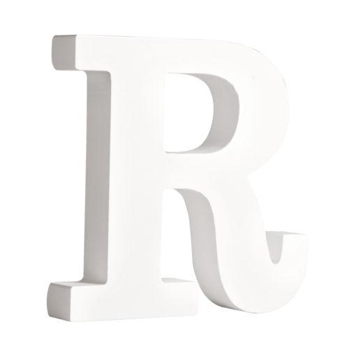 Rayher Pappmaché-Buchstabe R in weiß