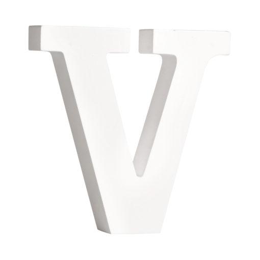 Rayher Pappmaché-Buchstabe V in weiß