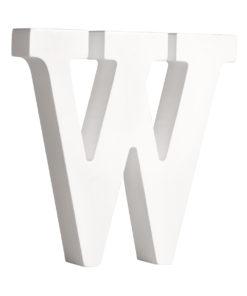 Rayher Pappmaché-Buchstabe W in weiß