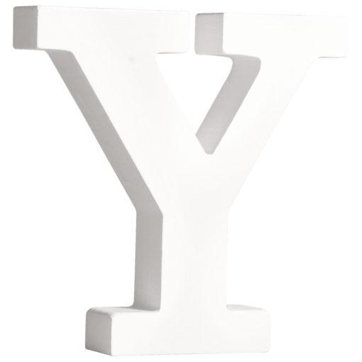 Rayher Pappmaché-Buchstabe Y in weiß