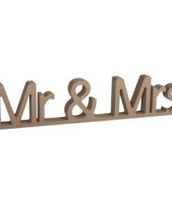 Rayher MDF-Schriftzug Mr & Mrs
