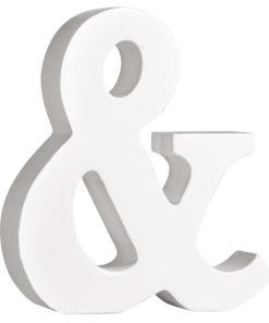 Rayher Pappmaché-Symbol & in weiß