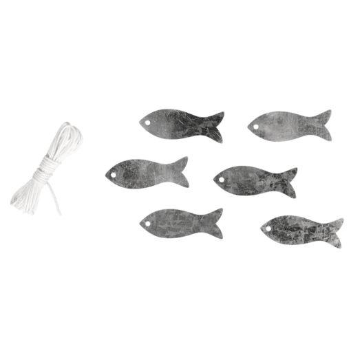 Metall Fische mit Kordel