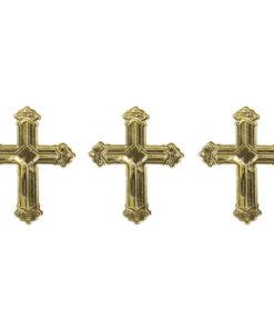 Rayher Metall Plättchen Kreuz in gold zur Anlassgestaltung