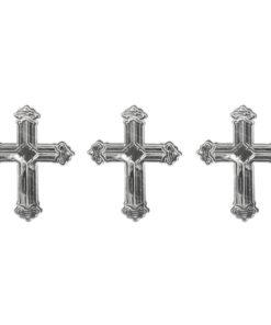 Rayher Metall Plättchen Kreuz in silber zur Anlassgestaltung