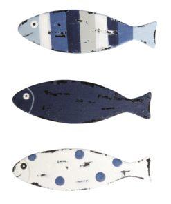 Metall Streuteile Fisch in blau