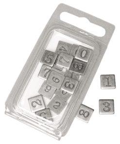 Metall-Zahlen, geprägt