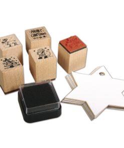 Rayher Mini-Holzstempelset Weihnachten