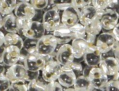 Miyuki Perlen Drop, transparent, Silbereinzug, zur Schmuckherstellung