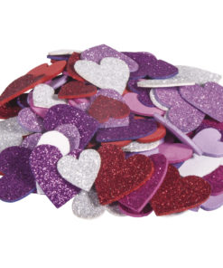 Rayher Moosgummi-Mix Herzen mit Glitter