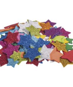 Rayher Moosgummi-Mix Sterne mit Glitter