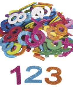Rayher Moosgummi-Mix Zahlen mit Glitter