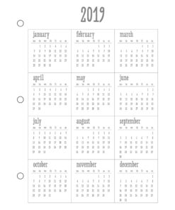 Jahresübersicht 2019 für Planer