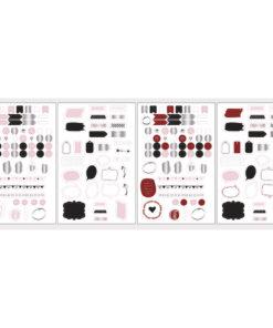 Rayher Sticker, Wort und Icons für Scrapbooking und Planer