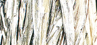 Viskosebast zum Basteln in silber