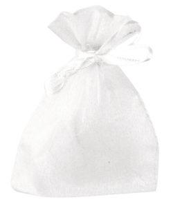 Organza Säckchen in weiß